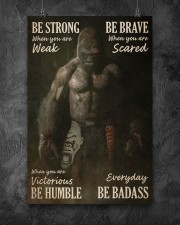 Gorilla Boxing Be Strong 24x36 Poster aos-poster-portrait-24x36-lifestyle-12