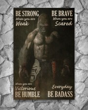 Gorilla Boxing Be Strong 24x36 Poster aos-poster-portrait-24x36-lifestyle-13