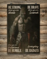 Gorilla Boxing Be Strong 24x36 Poster aos-poster-portrait-24x36-lifestyle-14