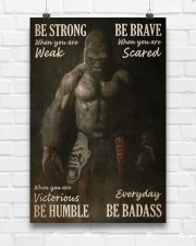 Gorilla Boxing Be Strong 24x36 Poster aos-poster-portrait-24x36-lifestyle-17