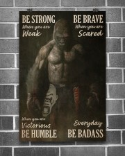 Gorilla Boxing Be Strong 24x36 Poster aos-poster-portrait-24x36-lifestyle-18