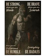 Gorilla Boxing Be Strong 24x36 Poster front
