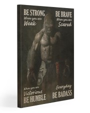 Gorilla Boxing Be Strong Gallery Wrapped Canvas Prints tile