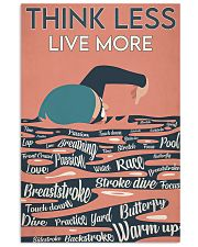 Swimming Think Less Live More 24x36 Poster front