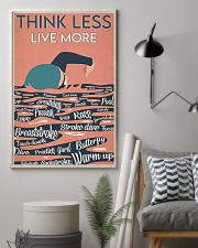 Swimming Think Less Live More 24x36 Poster lifestyle-poster-1