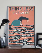 Swimming Think Less Live More 24x36 Poster lifestyle-poster-2
