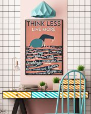 Swimming Think Less Live More 24x36 Poster lifestyle-poster-6