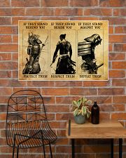 Samurai If They Stand Behind You 36x24 Poster poster-landscape-36x24-lifestyle-20
