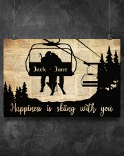 Chairlift Skiing Happiness 36x24 Poster aos-poster-landscape-36x24-lifestyle-11