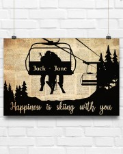 Chairlift Skiing Happiness 36x24 Poster aos-poster-landscape-36x24-lifestyle-16