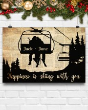 Chairlift Skiing Happiness 36x24 Poster aos-poster-landscape-36x24-lifestyle-25