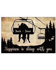 Chairlift Skiing Happiness 36x24 Poster front
