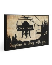 Chairlift Skiing Happiness 30x20 Gallery Wrapped Canvas Prints thumbnail