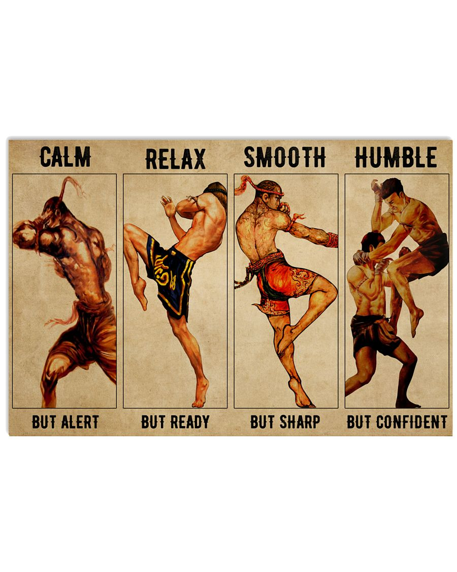 Muay thai calm but alert relax smooth humble poster