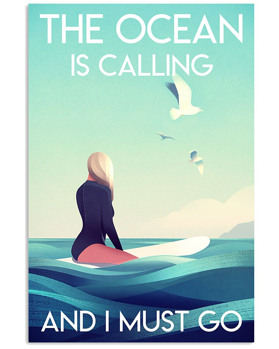 The Ocean Is Calling - Surfing 24x36 Poster