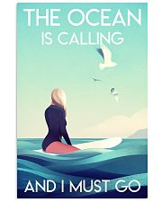 The Ocean Is Calling - Surfing 24x36 Poster front