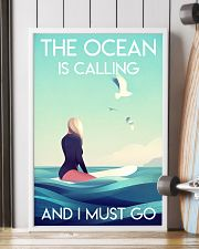 The Ocean Is Calling - Surfing 24x36 Poster lifestyle-poster-4