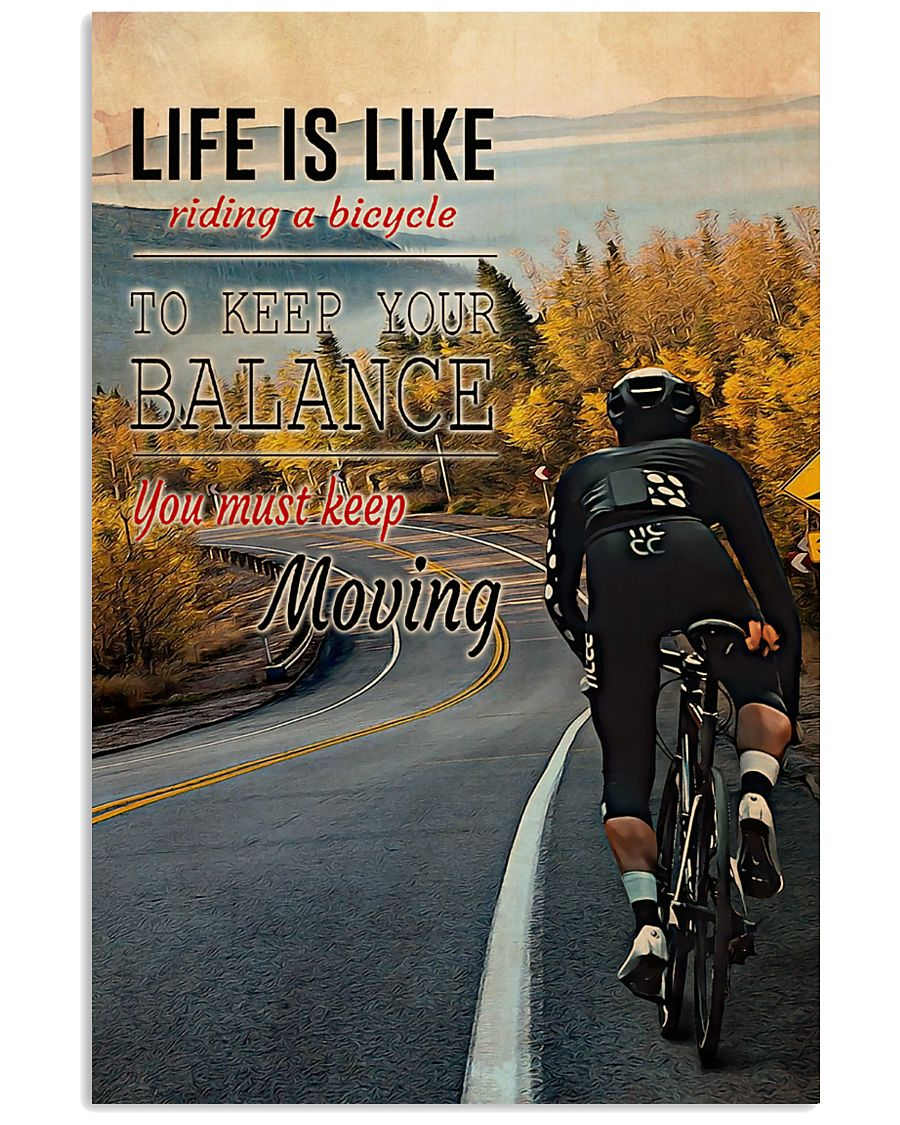 Cycling Life Quote 2 24x36 Poster