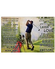 Golf Today Is A Good Day 36x24 Poster front