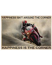 Motor Racing Happiness Is Corner  36x24 Poster front