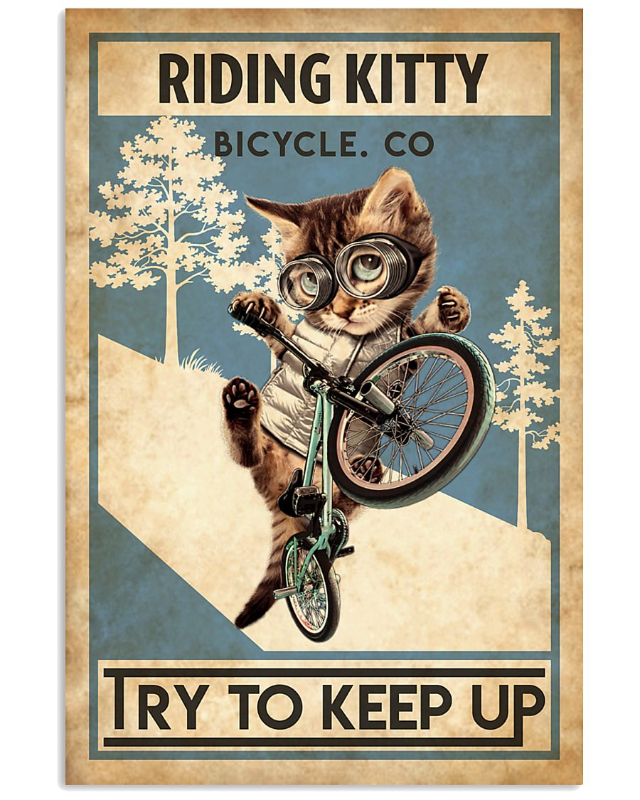 Cat Cycle 24x36 Poster
