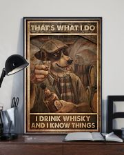 Dog Drink Whisky Know Things 24x36 Poster lifestyle-poster-2