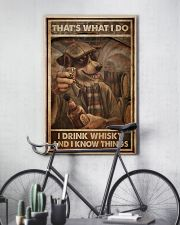 Dog Drink Whisky Know Things 24x36 Poster lifestyle-poster-7