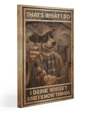 Dog Drink Whisky Know Things 20x30 Gallery Wrapped Canvas Prints thumbnail
