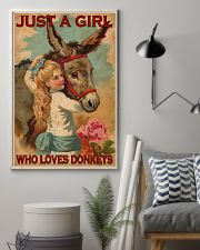Just A Girl Loves Donkeys  24x36 Poster lifestyle-poster-1