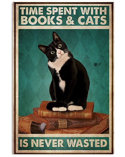 Time Spent With Books And Cats Is Never Wasted
