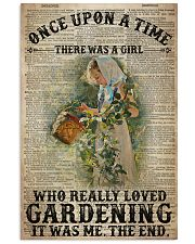 Girl Loved Gardening Once Upon A Time  24x36 Poster front