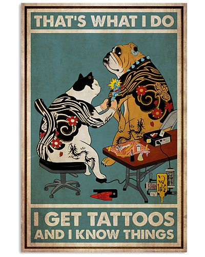 Tuxedo Cat And Bulldog Get Tattoos