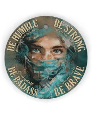 Physician Be Badass  Circle Ornament (Wood tile
