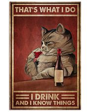 Cat Drink Know Things 24x36 Poster front