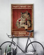 Cat Drink Know Things 24x36 Poster lifestyle-poster-7
