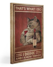 Cat Drink Know Things 20x30 Gallery Wrapped Canvas Prints thumbnail
