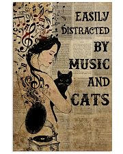 Girl Music And Cat 24x36 Poster front