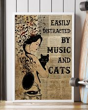Girl Music And Cat 24x36 Poster lifestyle-poster-4