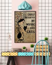Girl Music And Cat 24x36 Poster lifestyle-poster-6