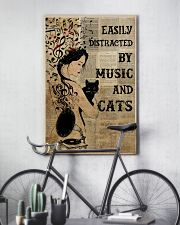 Girl Music And Cat 24x36 Poster lifestyle-poster-7
