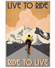 Cycling Live To Ride Retro 24x36 Poster front
