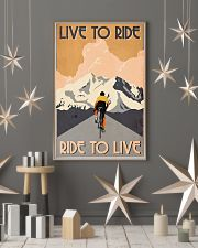 Cycling Live To Ride Retro 24x36 Poster lifestyle-holiday-poster-1