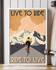 Cycling Live To Ride Retro 24x36 Poster lifestyle-poster-4