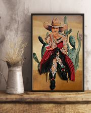 Cowgirl and Wine I Am Enough 24x36 Poster lifestyle-poster-3