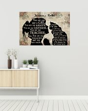 Girl Maine Coon Silhouette 36x24 Poster poster-landscape-36x24-lifestyle-01