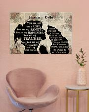Girl Maine Coon Silhouette 36x24 Poster poster-landscape-36x24-lifestyle-19