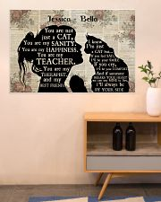 Girl Maine Coon Silhouette 36x24 Poster poster-landscape-36x24-lifestyle-22