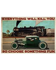 Rat Rod Racing Train 36x24 Poster front