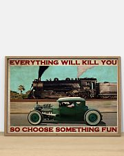 Rat Rod Racing Train 36x24 Poster poster-landscape-36x24-lifestyle-03