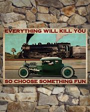 Rat Rod Racing Train 36x24 Poster poster-landscape-36x24-lifestyle-15